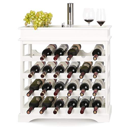 Stackable Wine Rack Modular Wine Racks Independent Vertical Wine Rack Display Solid Wood Shelf 275x275x885(White)