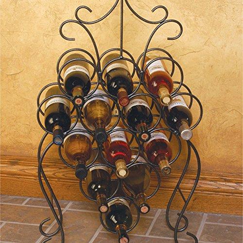 J&J Wire Wine Rack Dark Pewter