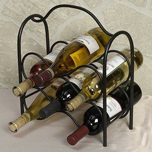 J&J Wire Wine Rack Holds Six Bottles