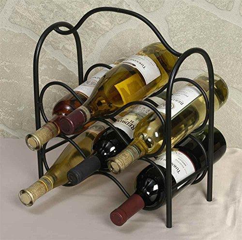 J&J Wire Wine Rack Holds Six Bottles by J&J Wire