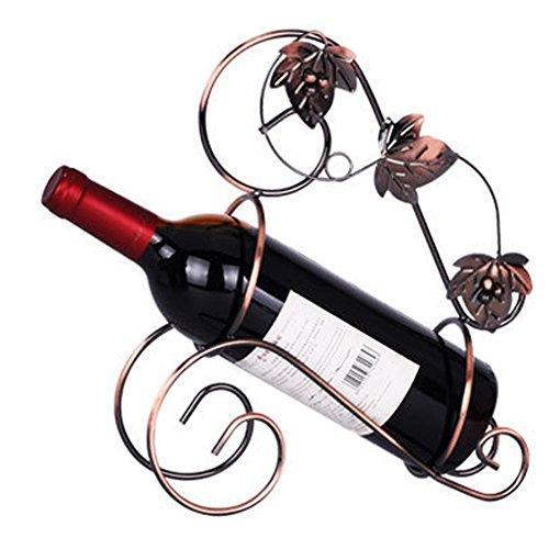 XHSP Elegant Magic Metal Wire Wine Rack Single Bottle Holder Stand Wine Rack