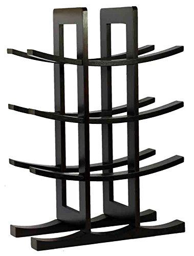 Edgemont 12 Bottle Tabletop Wooden Wine Rack - Dark Espresso RackShelf by Varick Gallery