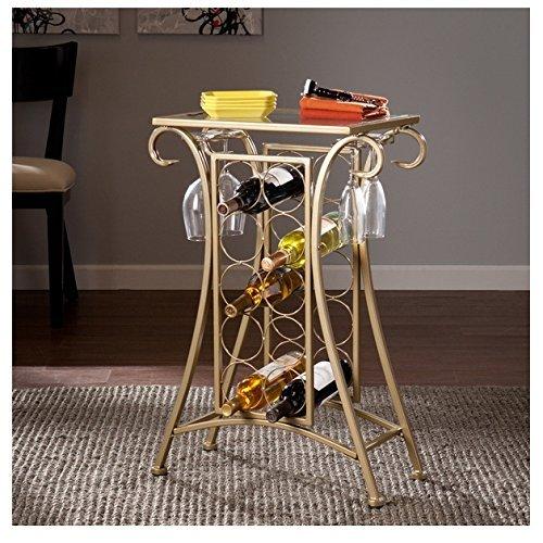 Harper Blvd Nancy Gold 10 bottle Wine Rack Table