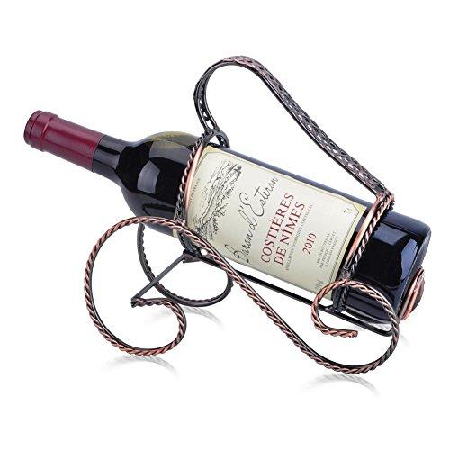 Creative wrought iron wine rack classic hand-pull wine wine rack-A