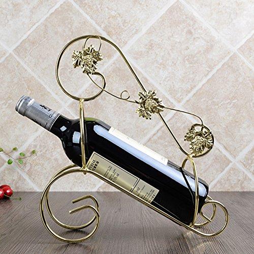 European ideas wine racksRetro wrought iron wine rack ornamentsFashion home decoration-B