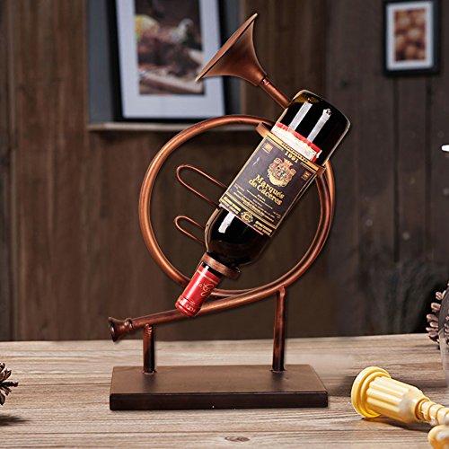 Retro Wrought Iron Wine Rack Creative OrnamentsRestaurant Wine Rack Wine Cabinets Accessories-B