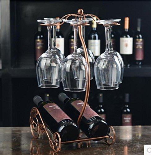 W&P Creative wrought iron wine rack-style wine rack glass ornaments  bronze