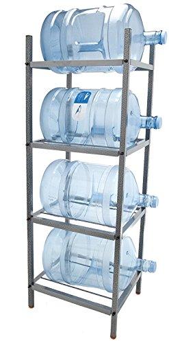 Bluewave 4-Step Metal Bottle Storage Rack - Holds 4 Bottles Dust Black