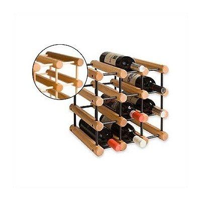 JK Adams Ash Wood 40-Bottle Wine Rack Natural