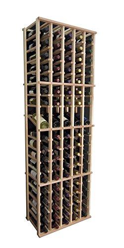 Designer Wine Rack Kit - 5 Column Individual wDisplay -Redwood Natural