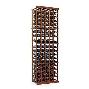 NFINITY Wine Rack Kit - 5 Column with Display -Dark Walnut - Solid Mahogany