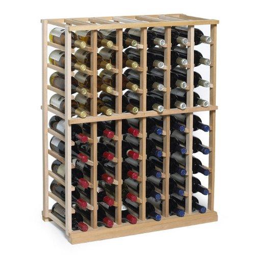 NFINITY Wine Rack Kit - 6 Column Half Height -Natural Finish - Solid Mahogany