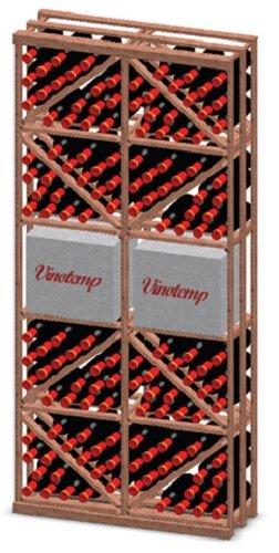 Vinotemp Double Diamond Case Bin 132-Bottle Wine Rack Kit