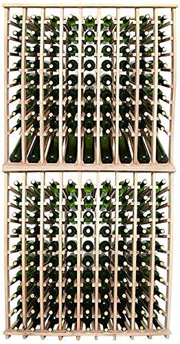 Wineracks Premium Cellar Series 180 Bottle Wine Rack Kit Oak