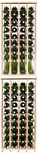 Wineracks Premium Cellar Series 80 Bottle Wine Rack Kit Oak