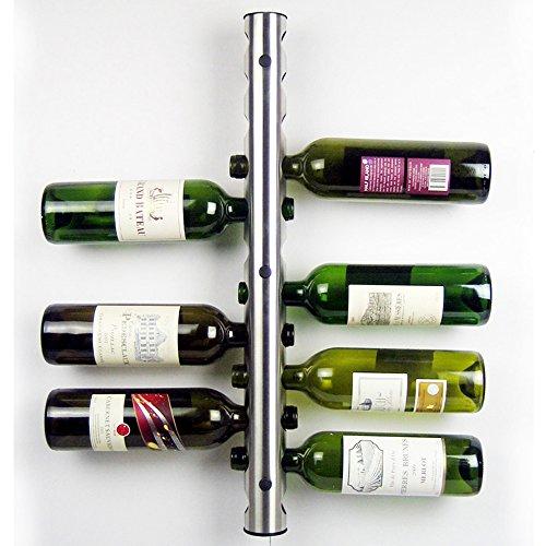 AGPtEK Advanced Stainless Steel Bar Wine Rack Wall Mounted Kitchen Dining Room Holder 12 Bottles