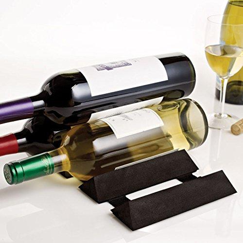 Design Ideas Wine Chock Foldable Tabletop Wine Rack Holder