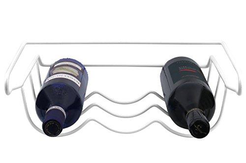 Mantello Fridge Wine Rack Refrigerator Bottle Rack Holder White