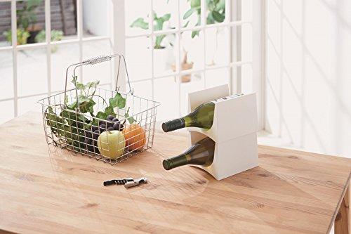 Stackable Wine Storage Rack for Refrigerator Kitchen Countertops - Holds 2 Bottles Bottle Rack Holder Tabletop Wine Rack Holder Bottle Storage Rack for Kitchen Cabinet