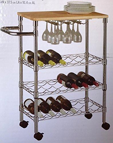 3-Tier Wine Cart