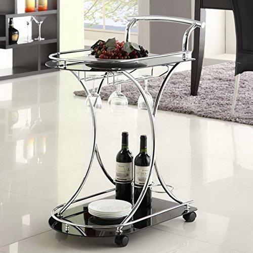LYKE Home Contemporary Wine Cart