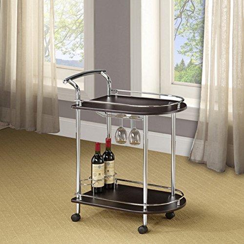 LYKE Home Sleek Modern Wine Cart