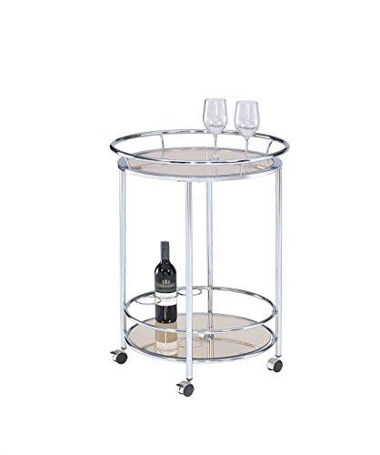 MYCO Furniture Circular Multi-Tier Wine Cart