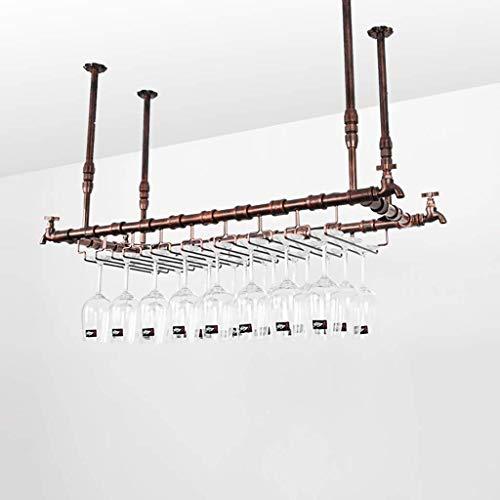 Wine Racks Wine Bar Wall Rack Hanging Bar Glass Rack&Hanging Bottle Holder Adjustable Size  102 31cm