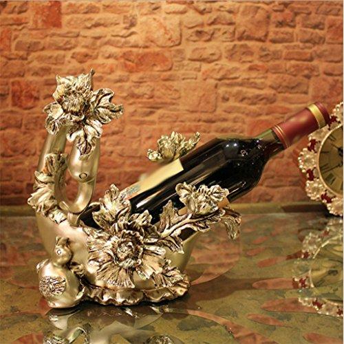European creative wedding gift swans wine rackHome wine racks ornament ornaments