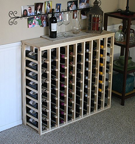 Creekside 72 Bottle Table Wine Rack Pine by Creekside - Exclusive 12 inch deep design conceals entire wine bottles Hand-sanded to perfection Pine