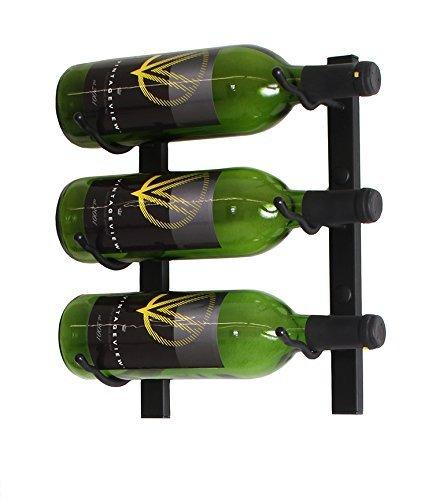 Wine Master Cellars WS11 Chrome 1ft Wall Series 3 Bottle Wine Rack44 Chrome