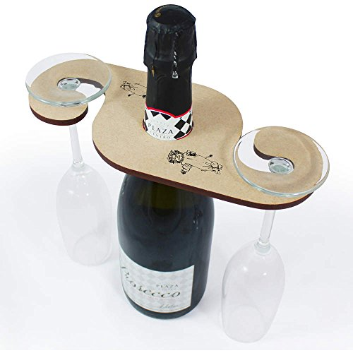 Lion Costume Wooden Wine Glass  Bottle Holder GH00028475