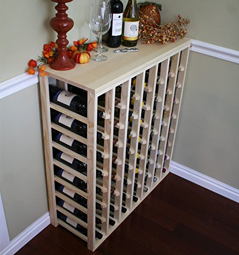 Creekside 56 Bottle Table Wine Rack Pine by Creekside - Exclusive 12 inch deep design conceals entire wine bottles Hand-sanded to perfection Pine