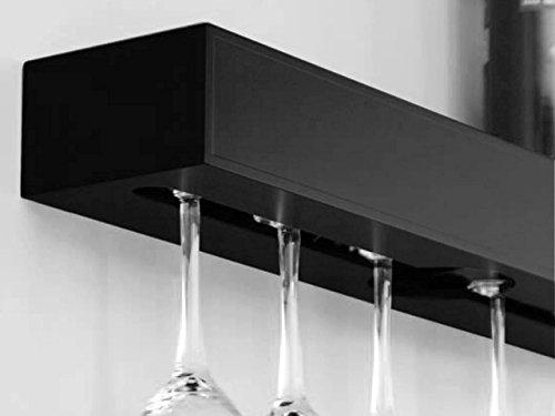 Wine Rack Shelf Holds 6 Glasses Organize Home Décor Storage Wall Bar Wine Bottle Glasses Holder Black 549
