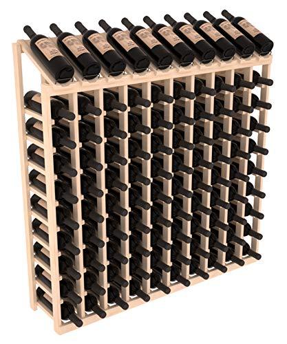 Wine Racks America Pine 10 Column 10 Row Display Top Kit Unstained