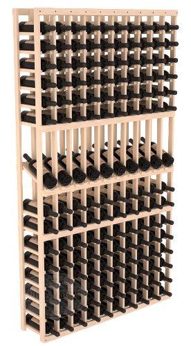 Wine Racks America Pine 10 Column Display Row Cellar Kit Unstained