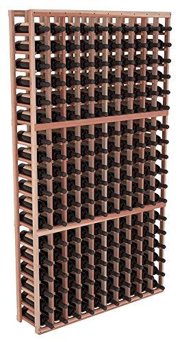 Wine Racks America Redwood 10 Column Wine Cellar Kit Unstained