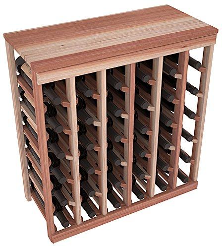 Wine Racks America Redwood 36 Bottle Table Top Unstained