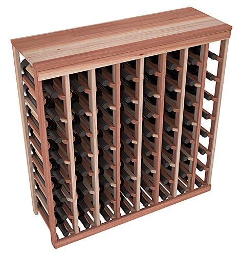Wine Racks America Redwood 64 Bottle Table Top Unstained