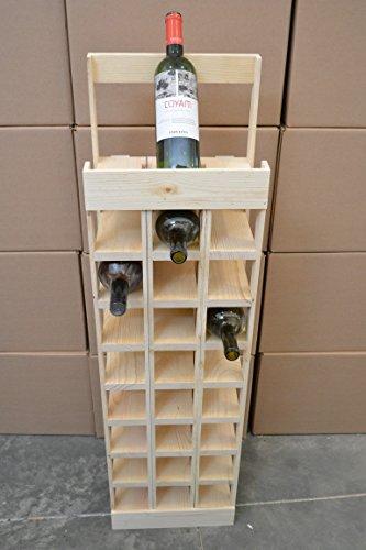 27 Bottle Wooden Wine Display Rack