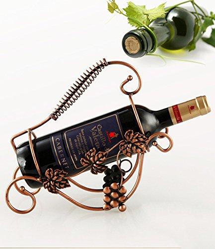 stylish wine rack ornamentsRetro wrought iron wine display racks European creative home wine rack-A