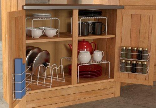 Grayline 457101 6 Piece Cabinet organizer Set White