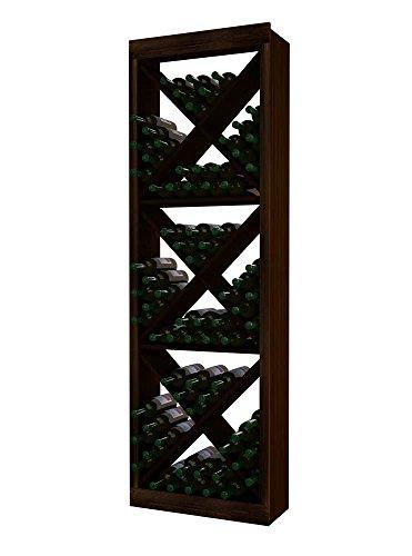 Wine Cellar Innovations RP-DW-SDCG2-A3 Traditional Series Solid Diamond Cube Wine Rack Rustic Pine Dark Walnut Stain