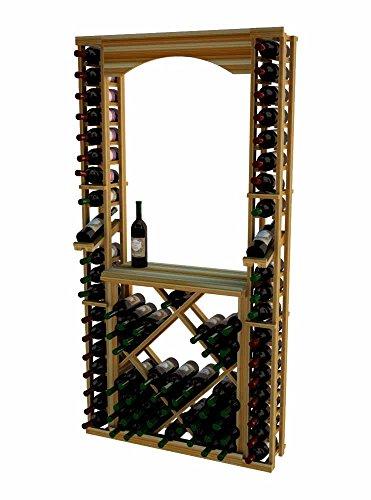 Wine Cellar Innovations TR-LI-ARCHDIAMDSKIT-A3 Traditional Series Tasting Center Bundle Archway Tabletop Individuals with Open Diamond Bin Wine Rack Premium Redwood Light Stain