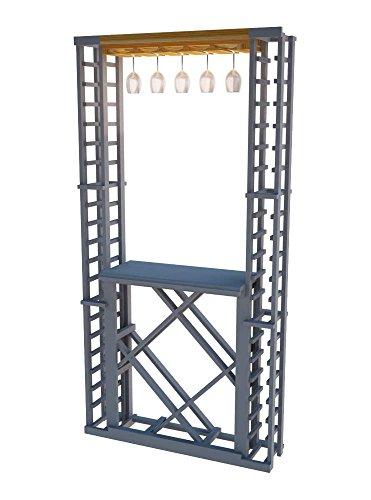 Wine Cellar Innovations TR-LI-GR2-A3 Traditional Series 2 Glass Wine Rack Premium Redwood Light Stain