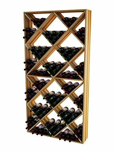 Wine Cellar Innovations TR-LI-SDIAM-A3 Traditional Series Solid Diamond Bin Wine Rack Premium Redwood Light Stain