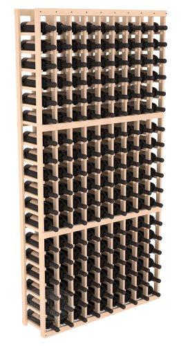 Wine Racks America Ponderosa Pine 9 Column Wine Cellar Kit 13 Stains to Choose From