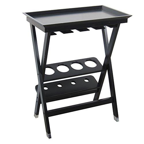 208 Fryar Design All Wood Folding Wine Storage Table Black Finish
