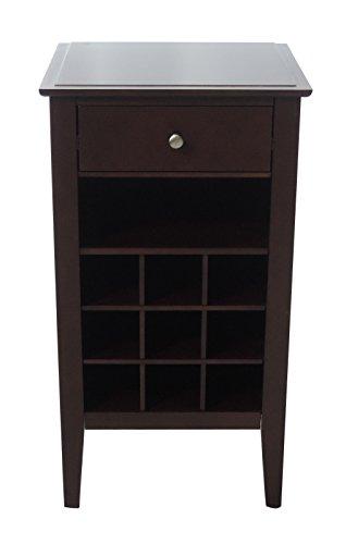 208 Fryar Design Solid Wood Wine Storage Table Dark Walnut