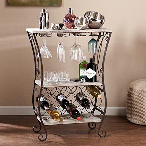 Living Room Custom Iron Metal Wine Storage Table
